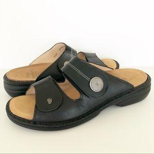 Finn Comfort Sansibar Black Soft Sandal EUC 42 D